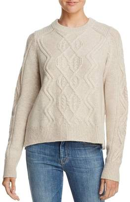 Aqua Aran-Knit Cashmere Sweater - 100% Exclusive