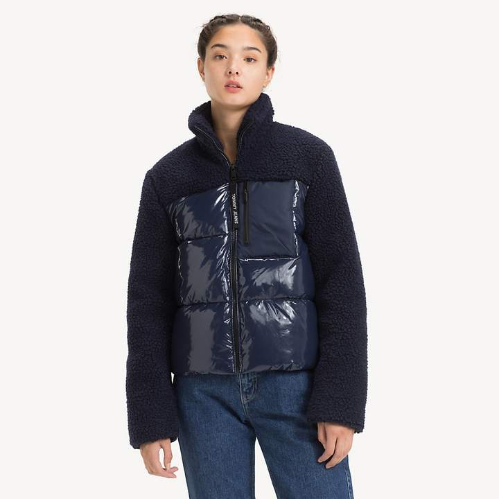 Regular Fit Contrast Sherpa Jacket