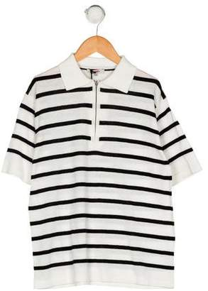 Junior Gaultier Boys' Striped Short Sleeve Shirt w/ Tags