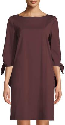 Lafayette 148 New York Elaina Crewneck Flowy-Sleeve Sheath Dress