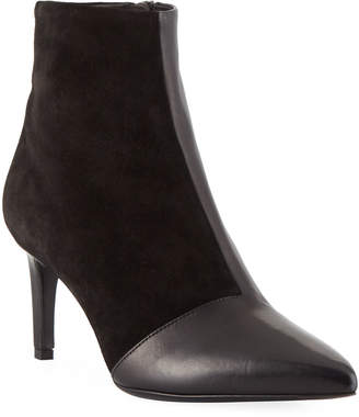 Rag & Bone Beha Mixed Leather & Suede Zip-Up Bootie