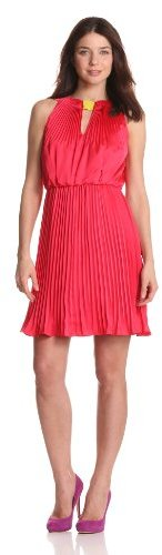 Vince Camuto Women's Pleated Halter Dress