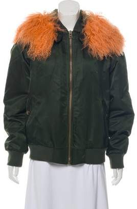 Mr & Mrs Italy Shearling-Lined Bomber Jacket