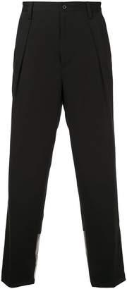 GUILD PRIME metallic panel tailored trousers