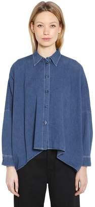MM6 MAISON MARGIELA Boxy Fit Vintage Cotton Denim Shirt