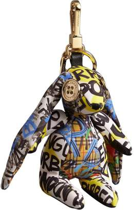Burberry Vera The Hare Graffiti Print Cotton Charm