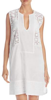 Echo Coastal Eyelet Tunic Cover-Up