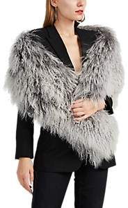 Barneys New York Women's Lamb Fur Shrug - Gray