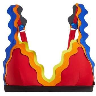 RYE Cackle scallop-edged triangle bikini top