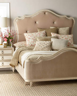 Genevieve Button-Tufted King Bed