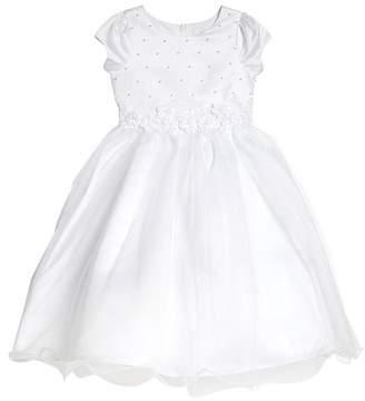 Us Angels Embellished Satin & Organza Dress