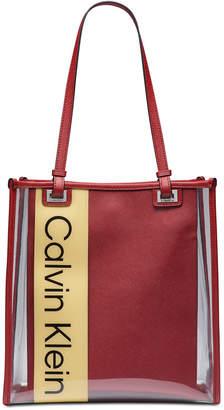 Calvin Klein Franzy Logo Clear Tote