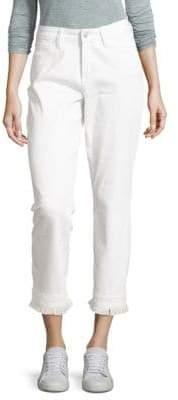 NYDJ Billie Fringed Bootcut Ankle Jeans