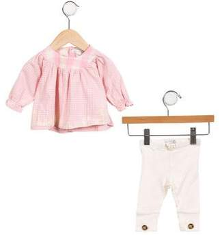 Jean Bourget Girls' Gingham Two-Piece Set