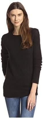 James & Erin Women's Patchwork Shoulder Sweater