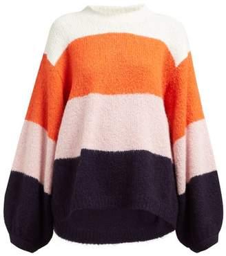 Acne Studios Wide Stripe Sweater - Womens - Pink Multi