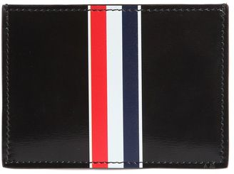 Stripe Print Brushed Leather Card Holder $360 thestylecure.com