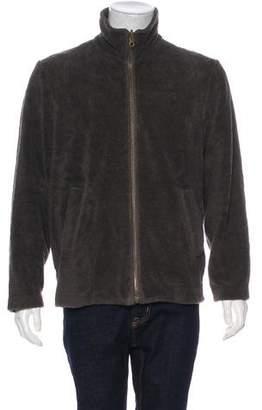 Calvin Klein Collection Quilted Zip Fleece