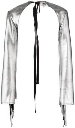 MM6 MAISON MARGIELA fringed sleeves