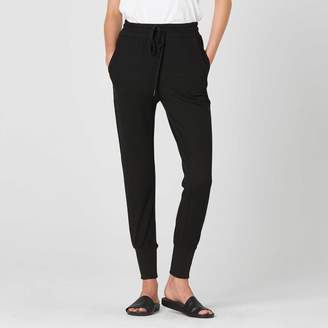DSTLD Womens Tapered Jogger Pants in Black