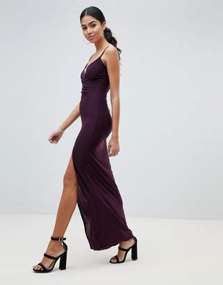AX Paris Cami Maxi Dress With Side Split