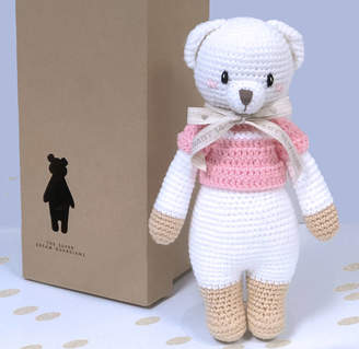 Oh my giddy aunt! Hand Knitted Lizzie Polar Bear Teddy Personalised