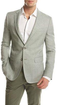 BOSS Melange Slim-Fit Sport Coat, Green $645 thestylecure.com