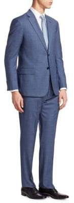 Emporio Armani Windowpane Wool Suit