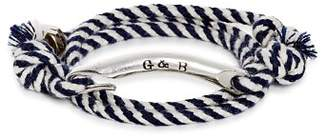 Giles & Brother ID Bar Wraparound Striped Rope Bracelet