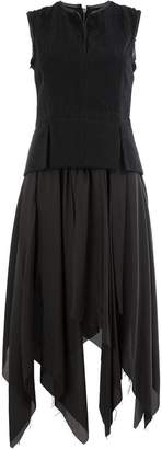 Masnada asymmetric full skirt dress