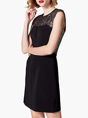Karen Millen Lace Insert Pencil Dress, Black