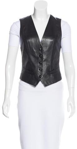 Barbara BuiBarbara Bui Leather Fitted Vest