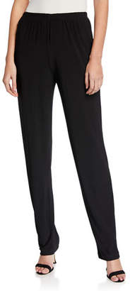 Caroline Rose Stretch-Knit Slim Pants