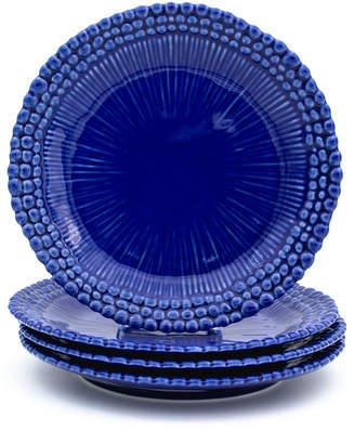 EuroCeramica Sarar 4 Piece Cobalt Salad Plate Set