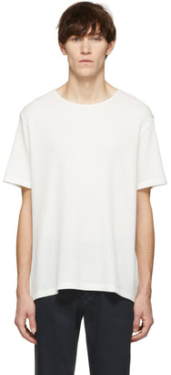 Our Legacy White Waffle Fine U-Neck T-Shirt