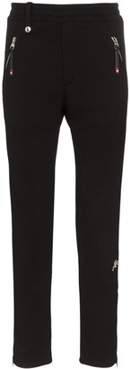 Alexander McQueen zip cuff cotton sweatpants
