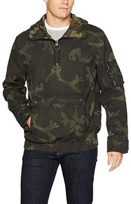 True Religion Men's Anorak Jacket with Camo Print