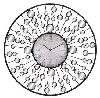 Cole & Grey 26 Metal and Mirror Wall Clock