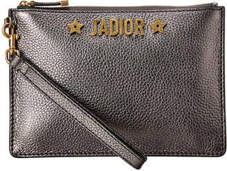 Christian Dior Metallic Leather Pouch
