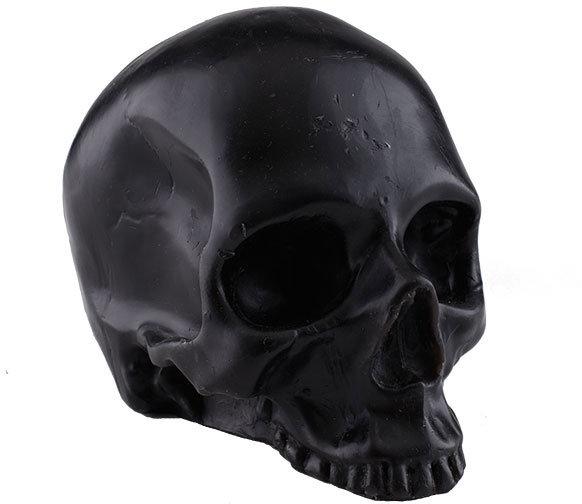 Elegant Skull Candle - Black