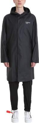 Off-White Off White Black Fabric Raincoat