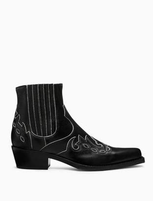 Calvin Klein western chelsea boot in calf leather