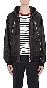 Maison Margiela Men's Leather Hooded Jacket - Black