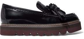 See by Chloe Tasseled Glossed-Leather Platform Loafers