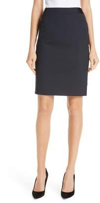 BOSS Veriba Minidessin Stretch Wool Suit Skirt