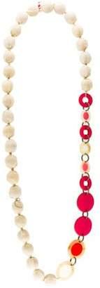 Marni Resin & Horn Bead Necklace