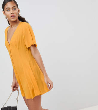 Asos Tall DESIGN Tall Swing Romper With Button Detail