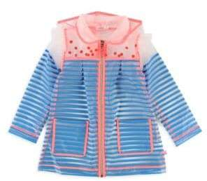 Billieblush Little Girl's Translucent Striped Jacket