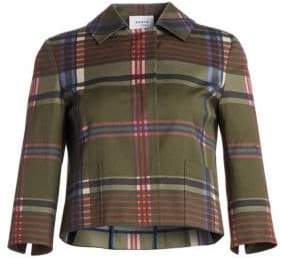 Akris Punto Cropped Plaid Jacket