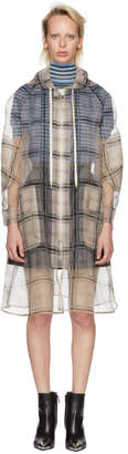 Fendi Multicolor Check Organza Hooded Coat